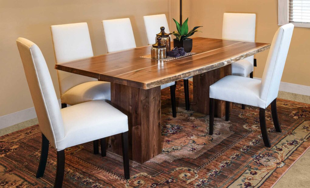 Rio Vista Live Edge Amish Table [Set]