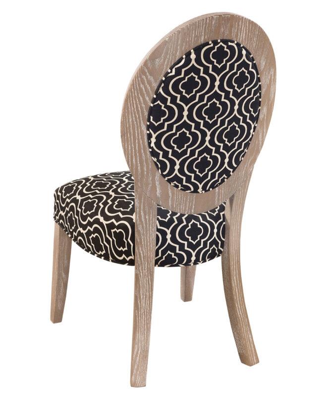 Roanoke Amish Dining Chair [Side / Oak / Back Detail]