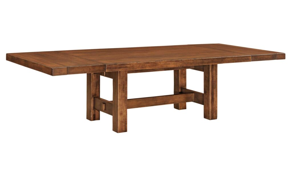 Wilmington Amish Trestle Table [With Leafs]