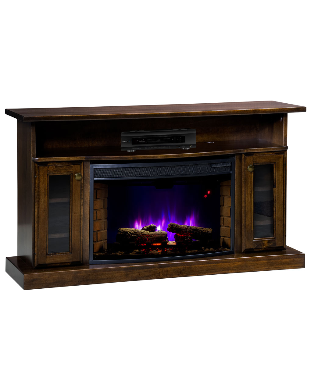 Cheyenne Series Tv Stand With Space Heater 301 Amish