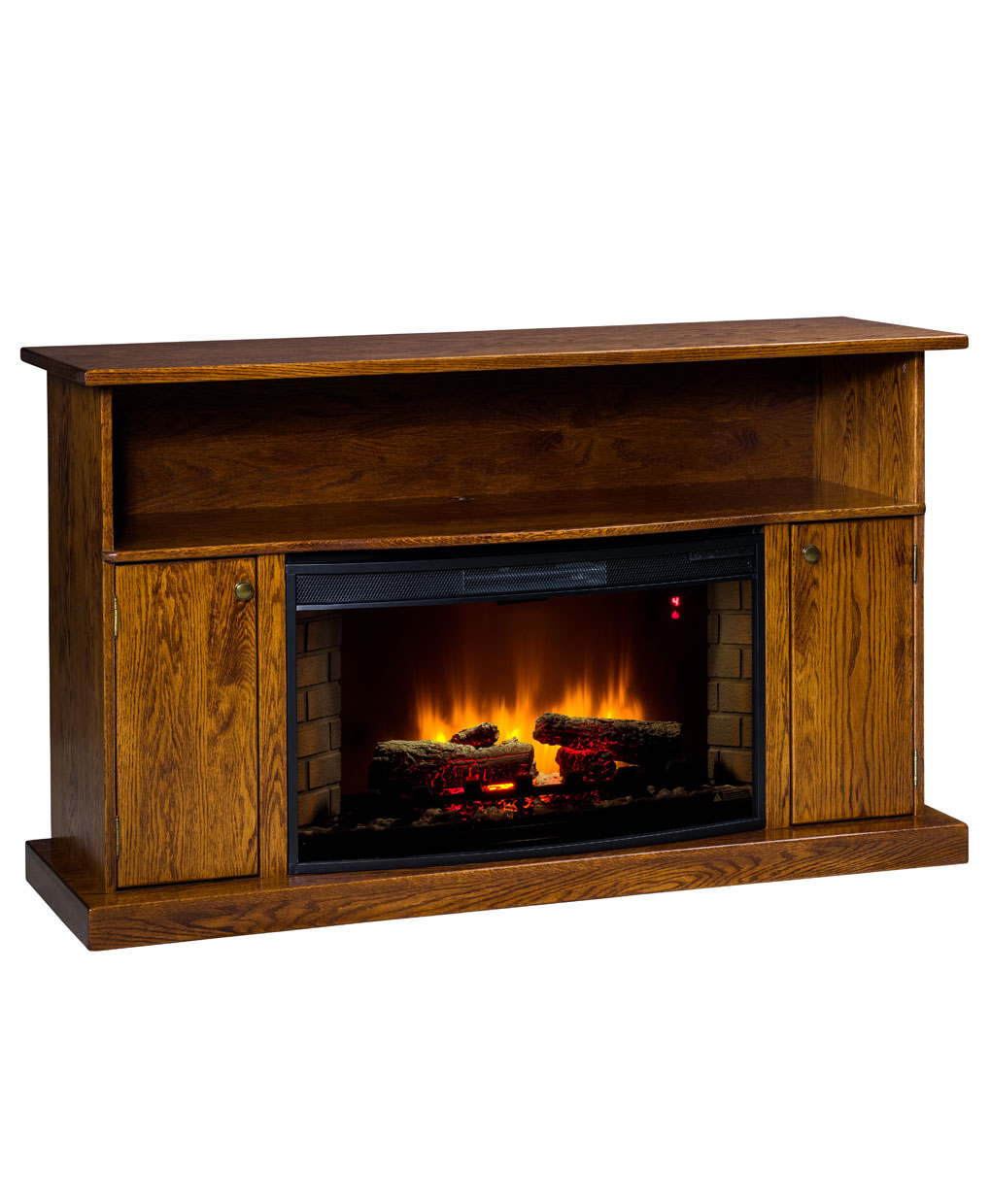 Cheyenne Series Tv Stand With Space Heater 302 Amish