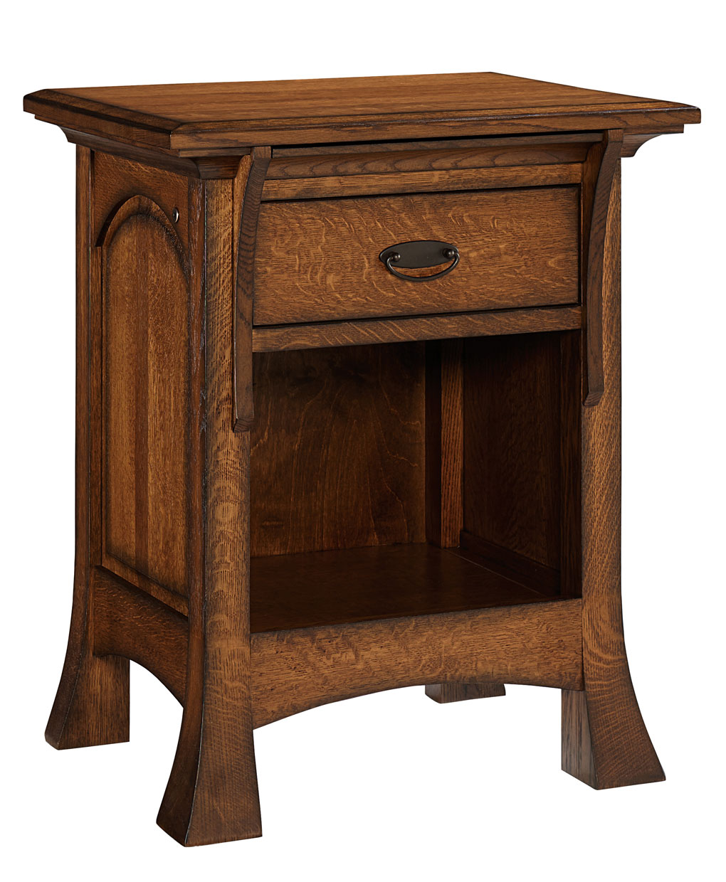 Breckenridge 1 drawer nightstand amish direct furniture - Elegant types of nightstands ...