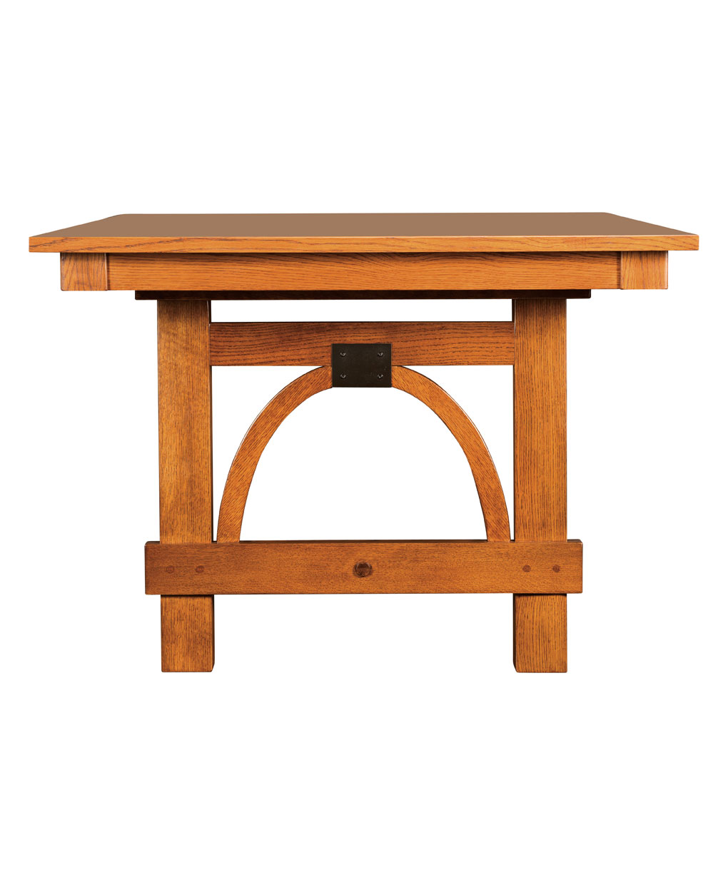 Ellis Amish Trestle Table [Side Detail]