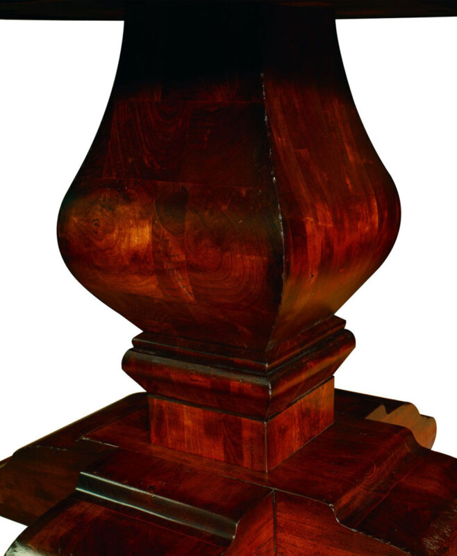 Wilmington Amish Pedestal Table [Base Detail]