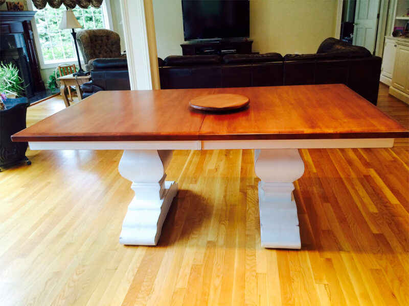 Wilmington Amish Trestle Table [Customer's Design / Amish Direct Furniture]