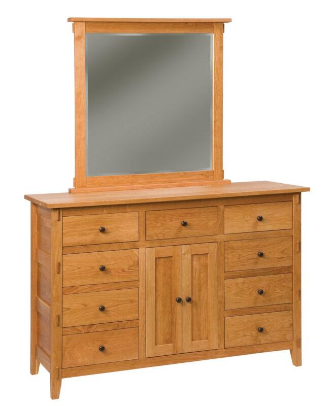 Bungalow 9 Drawer 2 Door Dresser