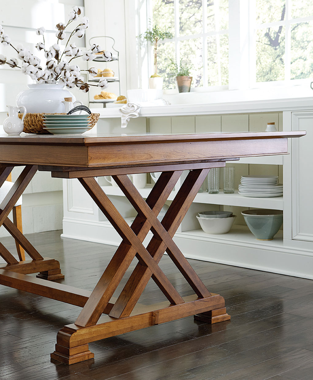 Trestle Dining Room Table: Amish Direct Furniture