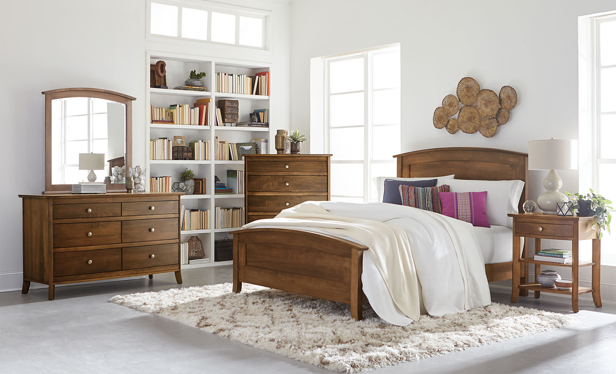 Laurel Amish Panel Bed Amish Direct Furniture