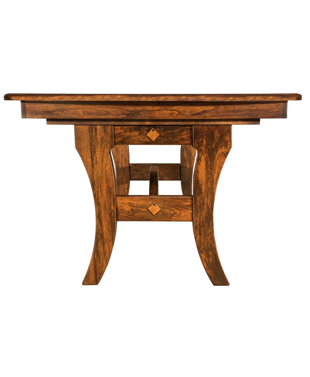 Amish Made Kitchen Tables Abilene dining table amish direct furniture amish made abilene trestle table front view workwithnaturefo
