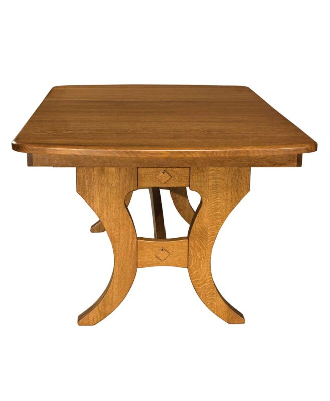 Amish Dining Jessica Trestle Table [Front View]