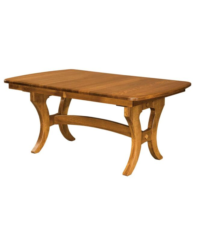 Amish Dining Jessica Trestle Table [Side View]