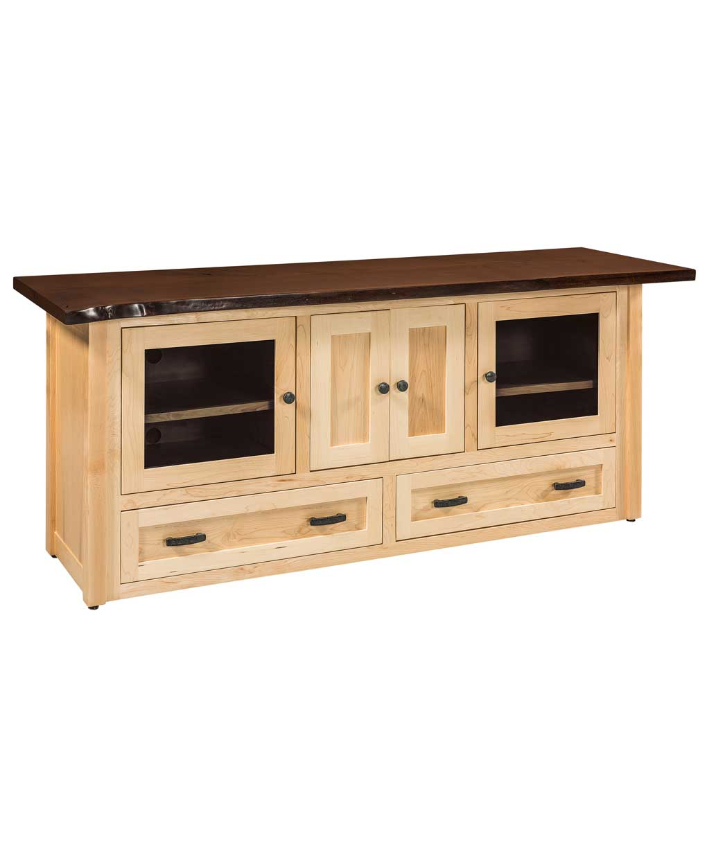 100 Amish Live Edge Solid Wood Console