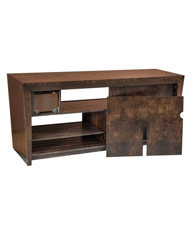 Contemporary Amish North Avenue TV Stand [Removable Back Panel / NA2066TV]