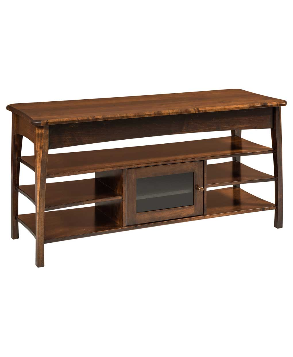 perry open tv stand  amish direct furniture - amish built perry open tv stand  wide  prtv