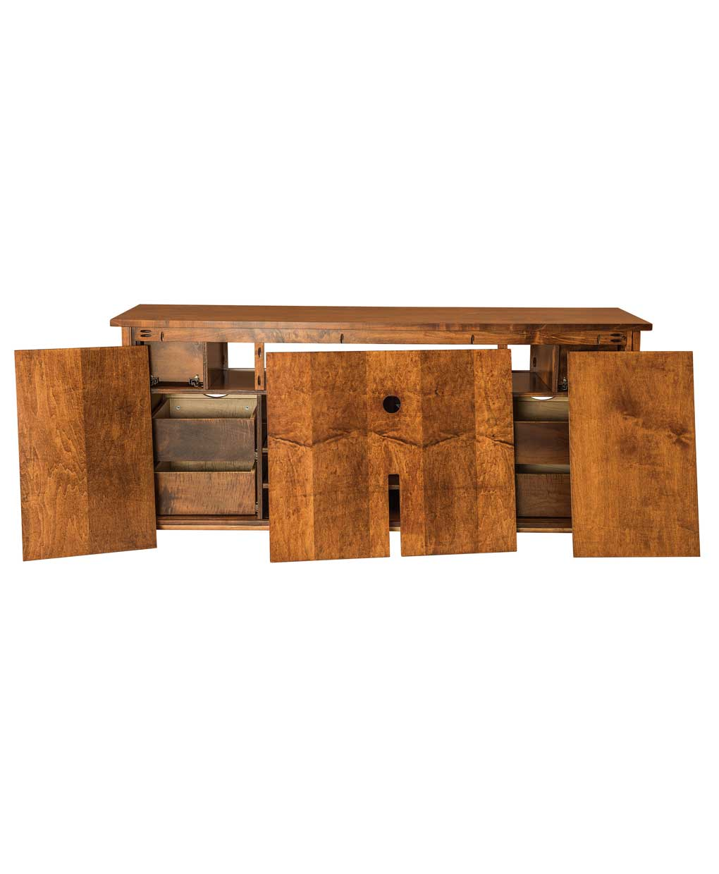 Teton Tv Stand With Sliding Barn Wood Door Amish Direct