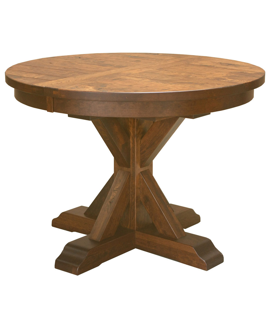 Alberta Single Pedestal Table [Rustic / Industrial]