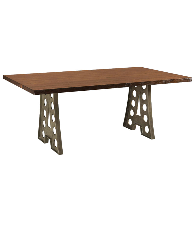 alpha industrial live edge table amish direct furniture. Black Bedroom Furniture Sets. Home Design Ideas