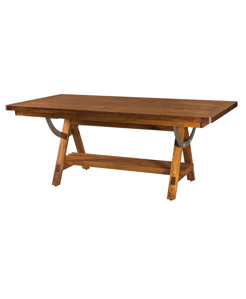 Amish Made Apgar Village Trestle Table [Side View]