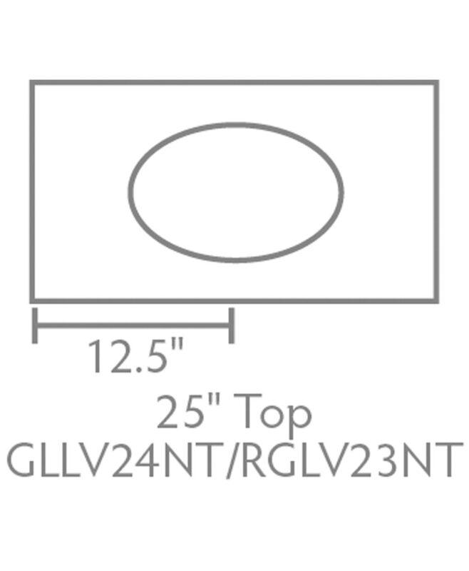 """Garland & Regal Amish 1 Drawer, 1 Door Bathroom Vanity [25"""" wide, Top View, GLLV24NT/RGLV23NT]"""