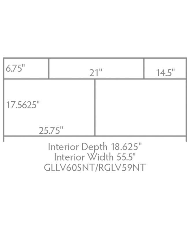 """Garland & Regal Amish 3 Drawer, 2 Door Bathroom Vanity [61"""" wide, GLLV60SNT/RGLV59SNT]"""