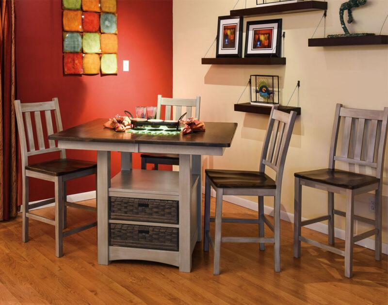 Heidi Amish Cabinet Table Set