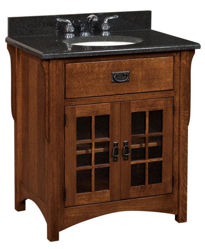 "Landmark 1 Drawer, 2 Door Bathroom Vanity (33"" wide / LMLV33NT)"