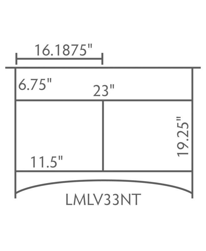 """Landmark 1 Drawer, 2 Door Bathroom Vanity [Dimensions / 33"""" wide / LMLV33NT]"""