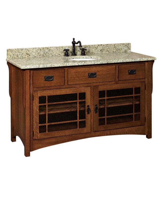 "Landmark 3 Drawer, 2 Door Bathroom Vanity (60"" wide / LMLV60NT)"