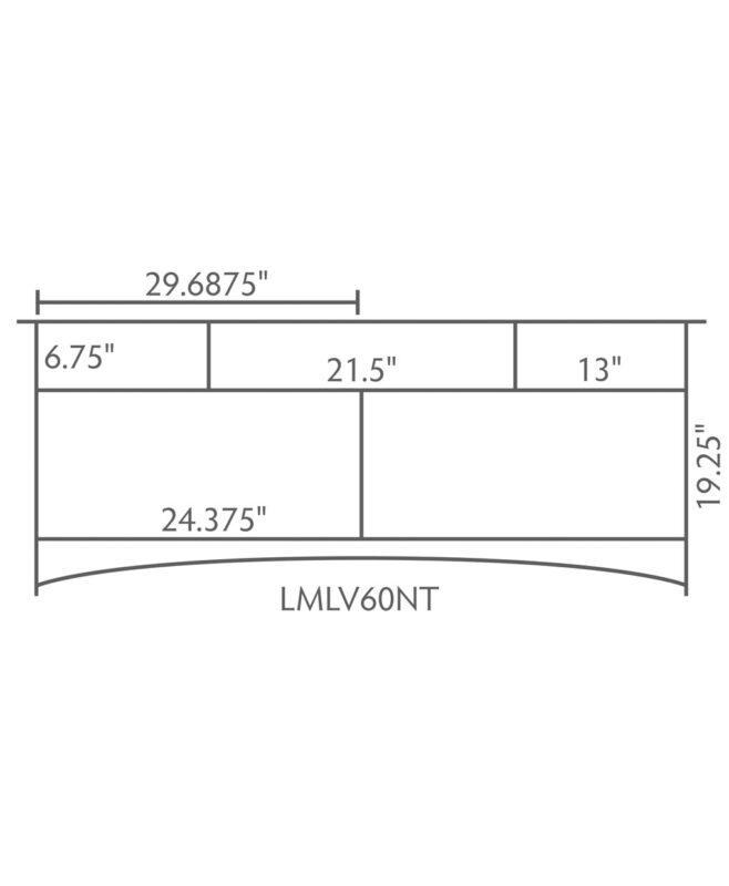 """Landmark 3 Drawer, 2 Door Bathroom Vanity [Dimensions / 60"""" wide / LMLV60NT]"""