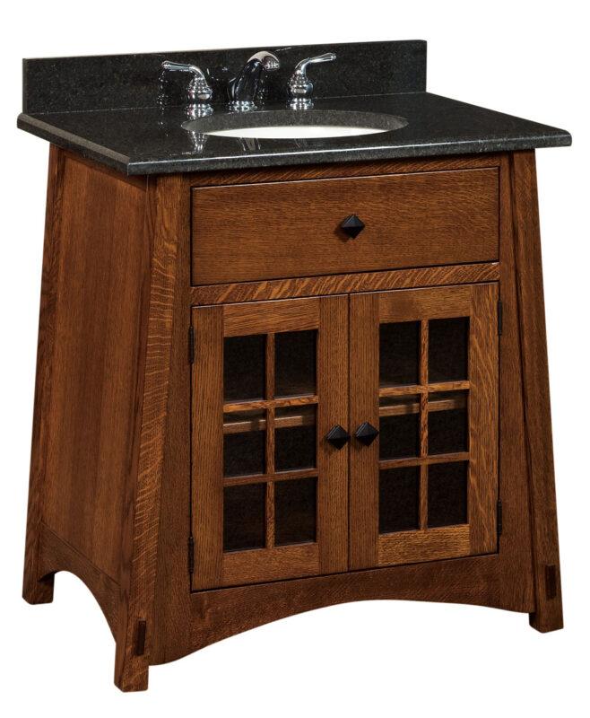 "McCoy 1 Drawer, 2 Door Bathroom Vanity (33"" wide / MCCLV49NT)"