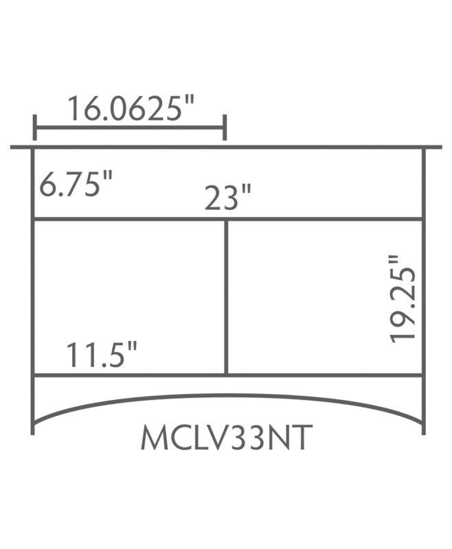 """McCoy 1 Drawer, 2 Door Bathroom Vanity [Dimensions / 33"""" wide / MCCLV49NT]"""