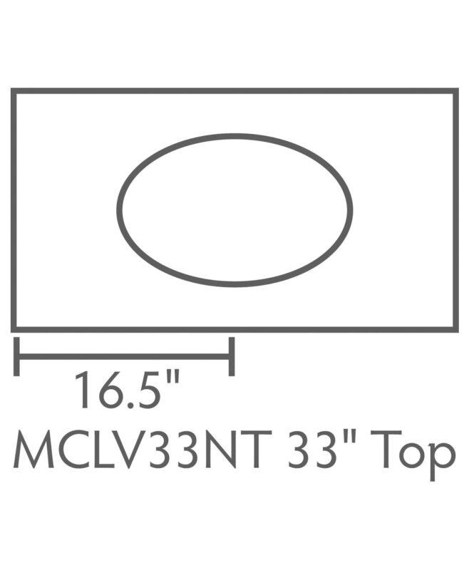 """McCoy 1 Drawer, 2 Door Bathroom Vanity [Dimensions / Top view / 33"""" wide / MCCLV49NT]"""