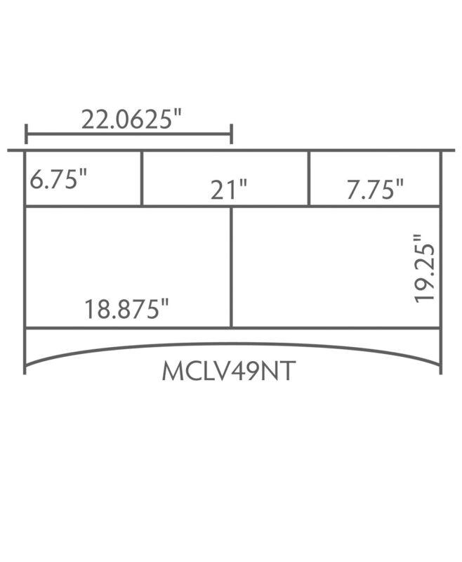 """McCoy 3 Drawer, 2 Door Bathroom Vanity [Dimensions / 49"""" wide / MCCLV49NT]"""