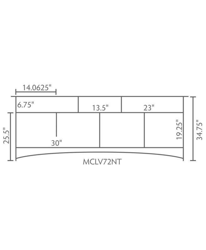 """McCoy 3 Drawer, 4 Door Bathroom Vanity [Dimensions / 72"""" wide / MCCLV72NT]"""