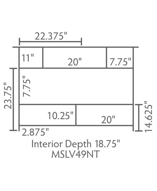 """Mesa Amish 49"""" wide, 3 Drawer Open Bathroom Vanity [Dimensions / MSLV49NT]"""