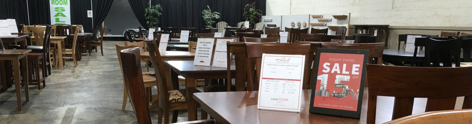 Come visit our showroom with over 25+ Amish table sets [Amish Direct Furniture]