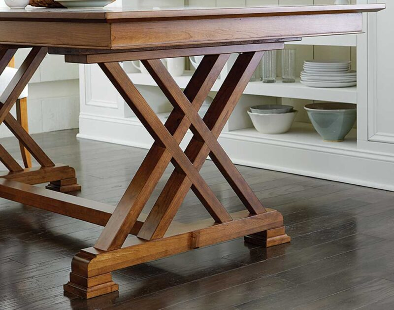 Heyerly Amish Table Set / Base Detail [Get ideas on your next dining or kitchen set at Amish Direct Furniture]