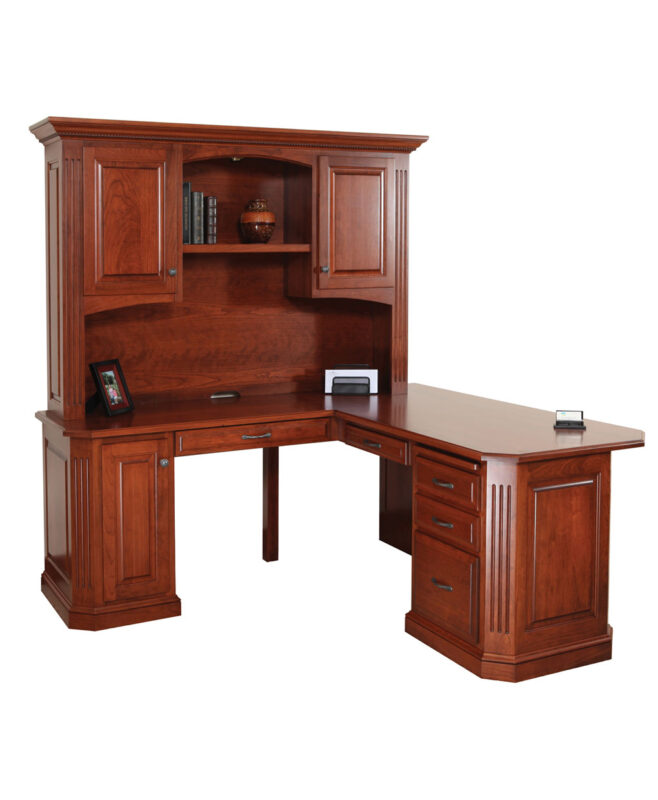 Buckingham Corner Desk and Hutch [Open Back Detail]
