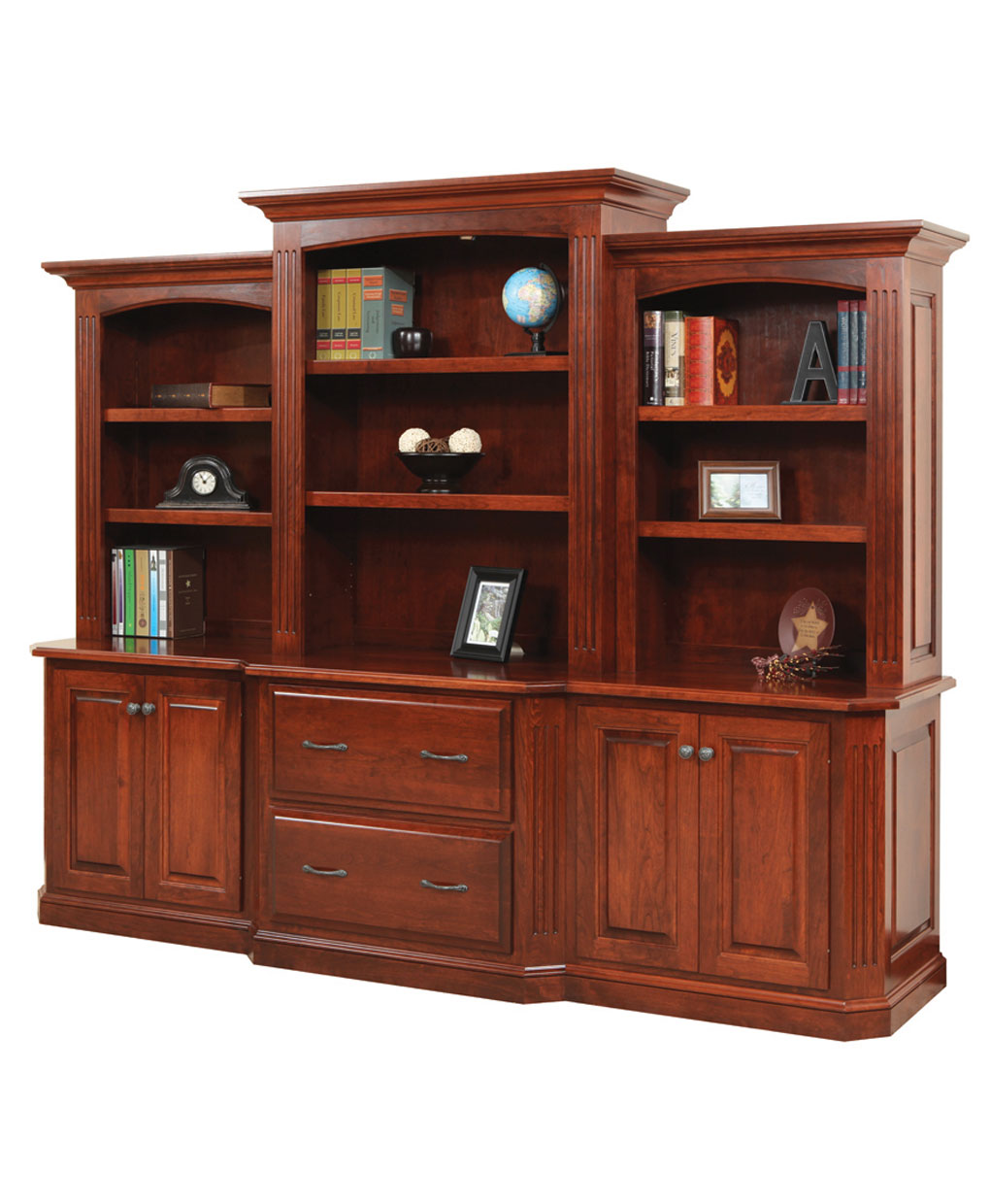Buckingham Credenza And Three Piece Hutch Amish Direct