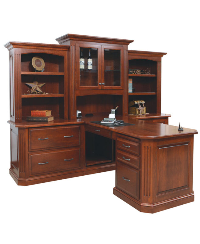 Buckingham Partner Desk and Three Piece Hutch