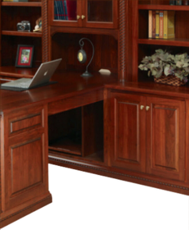 Buckingham Partner Desk and Three Piece Hutch [Right Side Detail]
