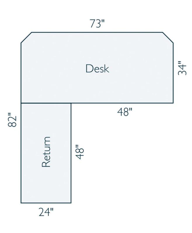 Arts and Crafts L-Desk [Dimensions]