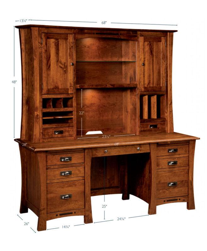 Arts and Crafts Executive Desk [Dimensions]