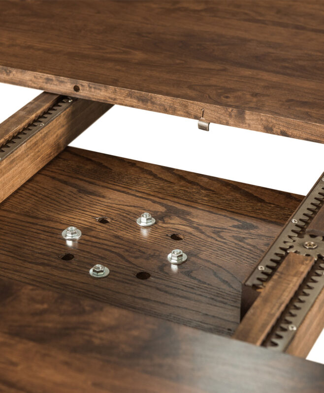 Emerson Single Pedestal Table [Mounting Board, Gear Slides Detail]