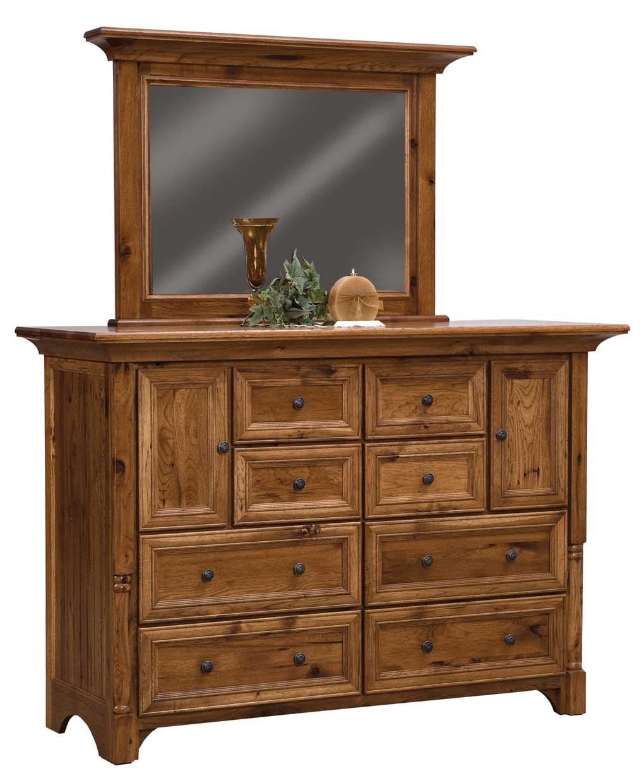 Palisade 8 Drawer 2 Door Dresser - Amish Direct Furniture