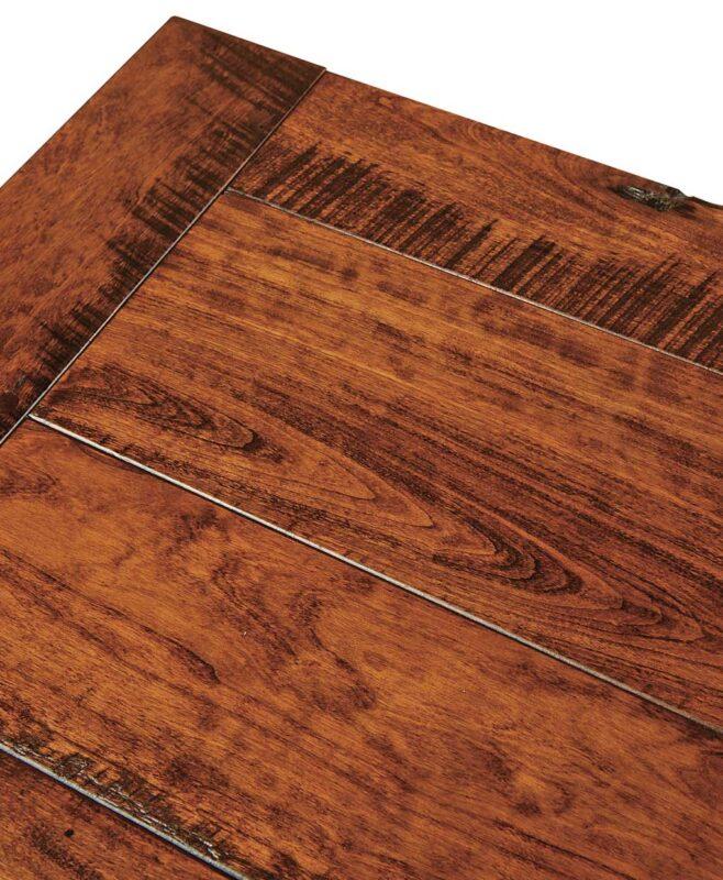 Larado Amish Bedroom Set [Plank Top with Saw Cut Detail]