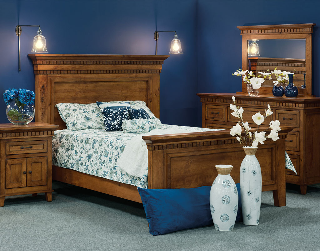 Whitaker Home Bedroom Set [Shown in Rustic Hickory with Malaguania stain]