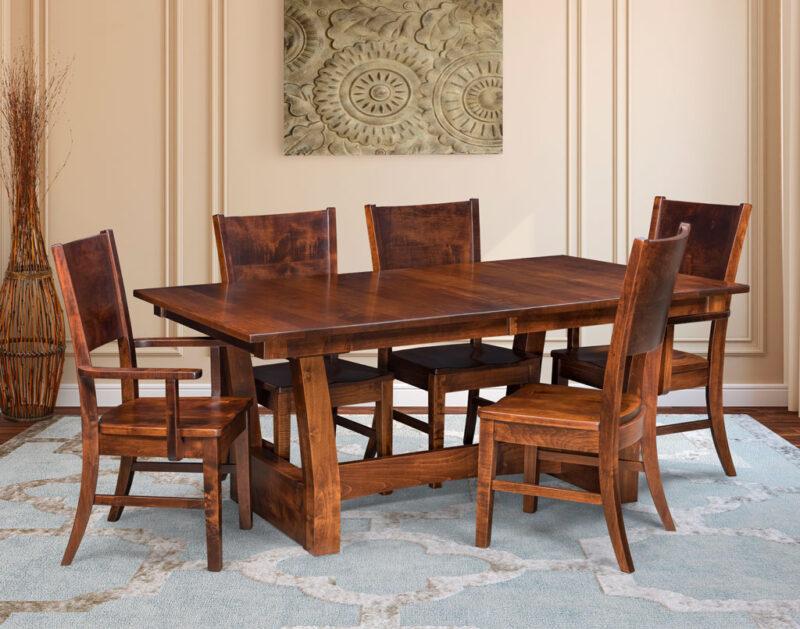 Captivating Ceresco Amish Dining Set
