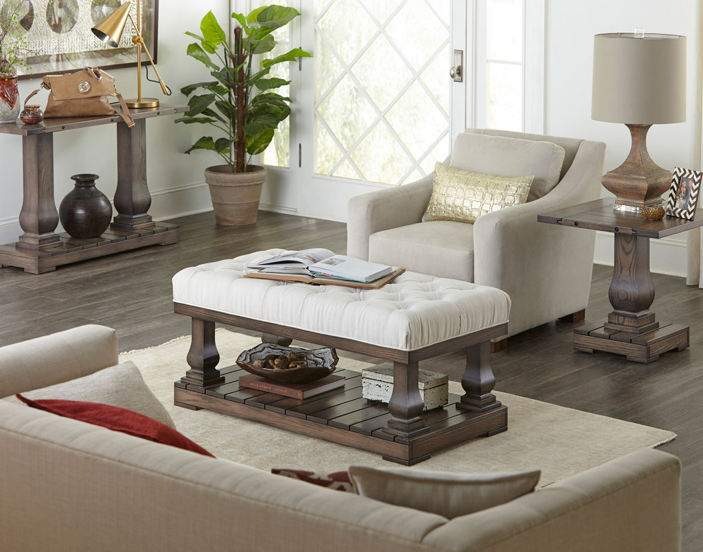 Imperial Amish Occasional Set [Cushioned Coffee Table]