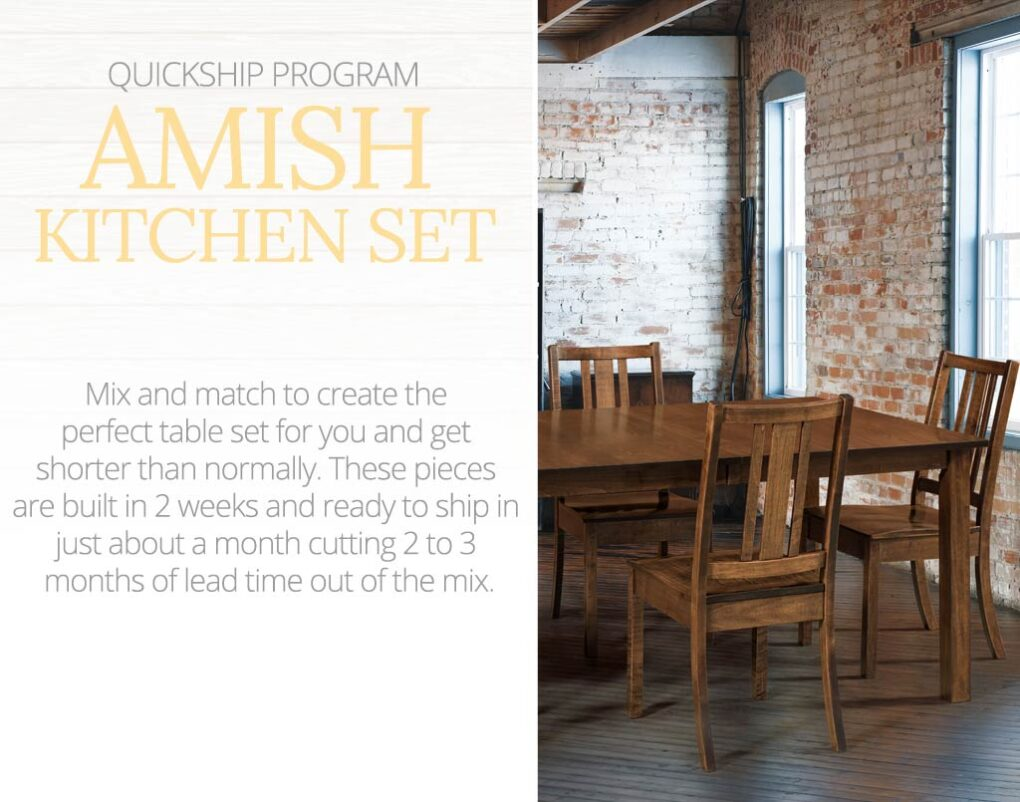 Quick Ship: Amish Kitchen Set. Mix and match to create the perfect table set for you and get shorter than normally.
